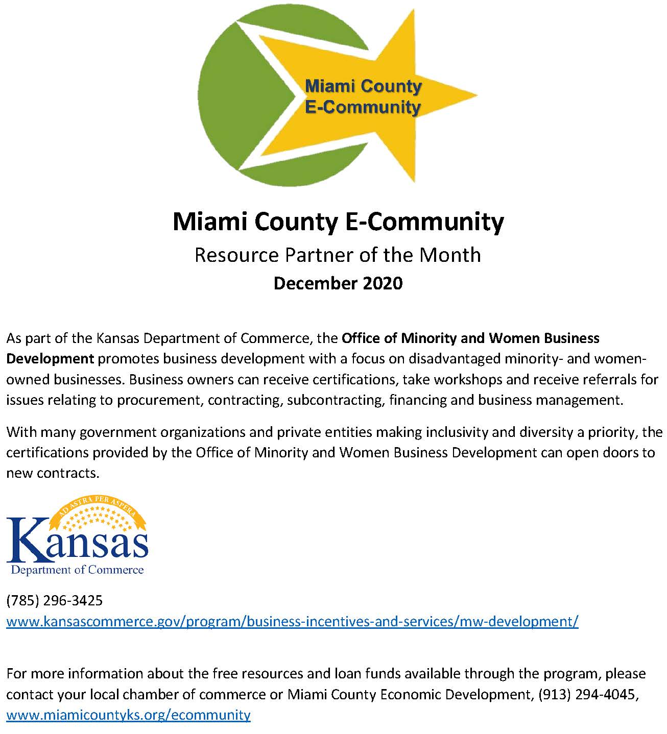 Resource Partner of the Month - December